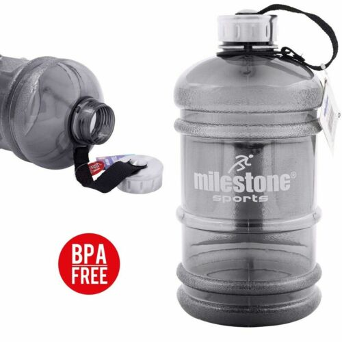 Milestone 2.2L BPA-Free Water Bottle Gym Sports Training Drink Water Container