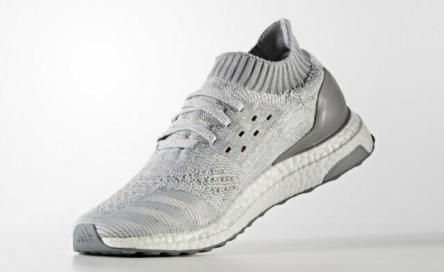 ADIDAS ULTRA BOOST UNCAGED BB4489 SIZE 10.5 MEN'S SHOES GREY AND WHITE RUNNING