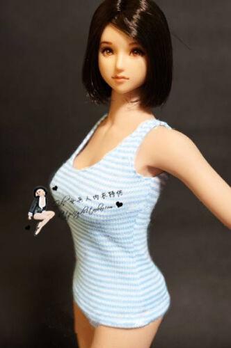 "Sea blue striped vest 1:6 Scale Clothes underwear FOR 12/"" PH HT Female Doll"