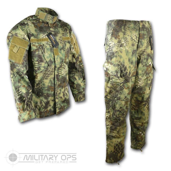 Raubvogel Cam Dschungel Muster Uniform Satz Hemd Hose Acu Style Us Militär