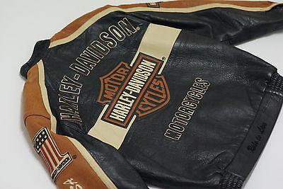 Harley Davidson Men's Prestige Leather USA Made Jacket Bar&Shield 97000-05VM L