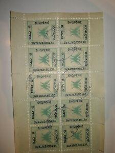 bloc-de-10-du-47-avec-variete-accent-sur-le-dernier-e-de-shqiperie-cote-75-euro