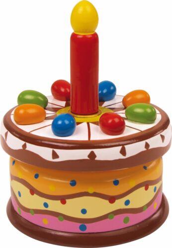 Spieluhr Geburtstagstorte Holz  Höhe: ca 11 cm Ø ca 14 cm