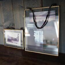 Nkuku Indy Photo Frame Mango Wood Double Sided Glass 8x10 20x25cm