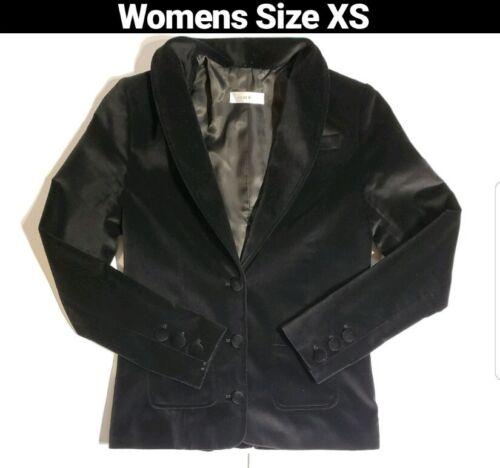 ANINE BING Velvet 3 Button Down Blazer Jacket in B