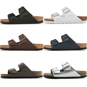 e736781662 Image is loading Birkenstock-Arizona-Birko-Flor-Sandals-2-Strap-Slides-