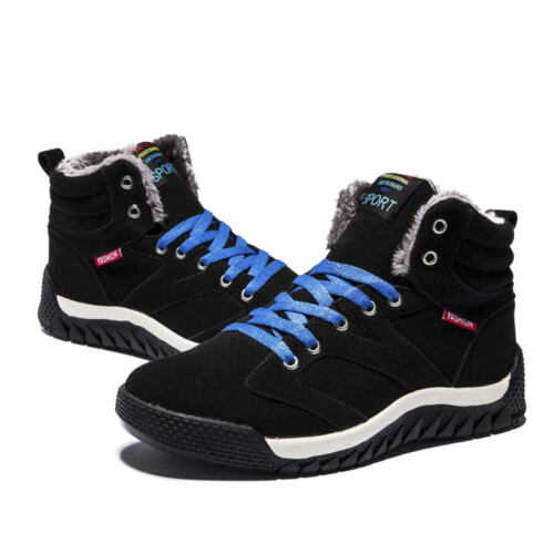 Men Winter Snow Boots Outdoor Hiking Sneaker Super Warm Plush High Top Shoes