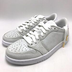 1d9cda559b4a9b Nike Air Jordan 1 Retro Low NS Women s Shoes White Metallic Gold ...