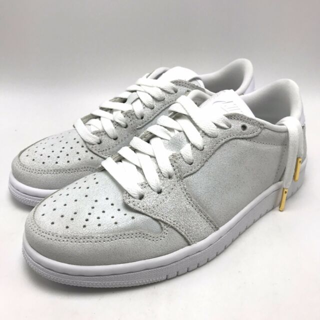 best sneakers df359 1540c Nike Air Jordan 1 Retro Low NS Women's Shoes White/Metallic Gold AH7232-100