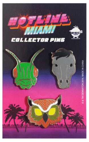 CARL RASMUS DON JUAN Masks SET Dennation Hotline Miami Collector/'s Pin Set
