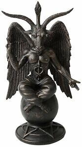 Baphomet-Antiquity-Figure-25cm-Statue-Occult-Pagan-Wicca-Goat-Ornament-Mythical