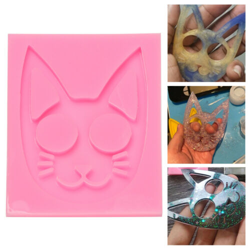 Personality Knuckles Ring Making Tool Cat Pattern Self-Defense Key Chain Mold