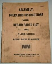 Minneapolis Moline P400 Planter Assemblyoperatorsampparts Manual Original P 400