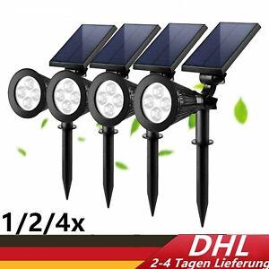 LED Solarleuchte Strahler Solarstrahler Gartenlampe Spot Licht IP65 DE