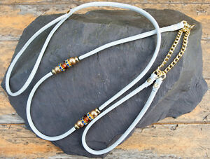 Beaded-Dog-Show-Lead-all-in-one-Soft-Nappa-Leather-2-sets-of-beads