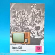 Fernsehtischgerät Luxomat 210 DDR 1974 61-Röhre | Prospekt Werbung DEWAG F57 L