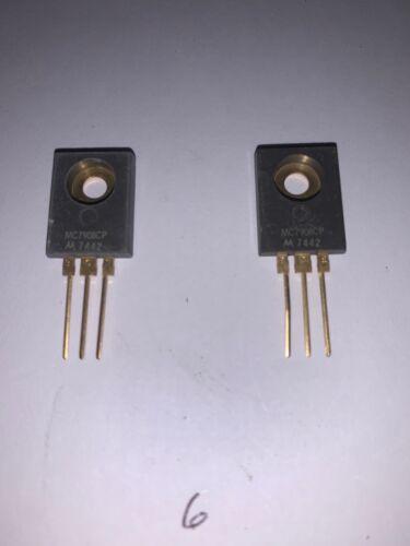 Motorola MC7908CP  Gold Voltage Regulator Quantity of 2 Brand New