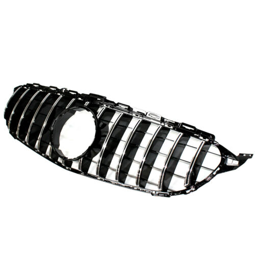 Chrome Front Bumper Grille Radiator Grill Fits Mercedes Benz C Class W205 15-18