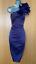 Karen-Millen-UK-10-Purple-Satin-Rose-Corsage-One-Shoulder-Wiggle-Cocktail-Dress thumbnail 5