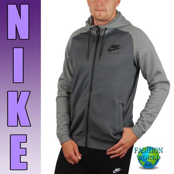 b8bb3f44cdba Nike Men s Size 2xl Sportswear Air Max Hybrid Full Zip Hoodie Grey 805136  for sale online