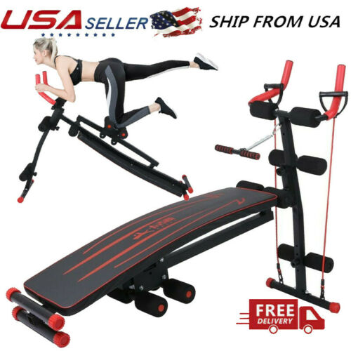 Ab Trainer Abdominal Machine Sit Up Bench Beauty Waist Shaper Machine Fitness US