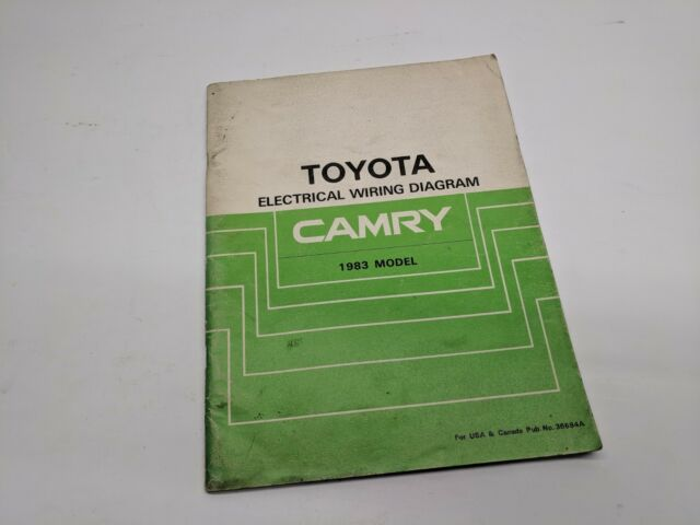 1983 Toyota Camry Electrical Wiring Diagram Oem Factory