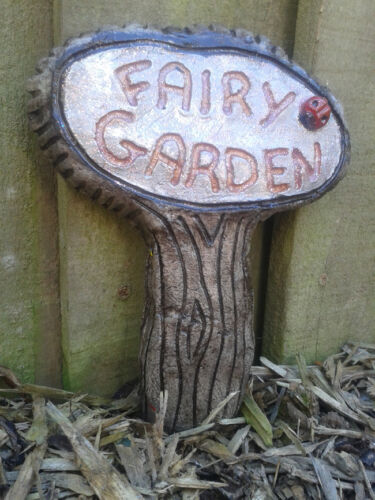 Large Fairy Castle Door Garden Wall Plaque ornament Hand Cast /& Painted