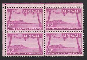 KAPPYSSTAMPS 2992 USA AIR MAIL SCOTT C46 MINT NEVER HINGED BLOCK