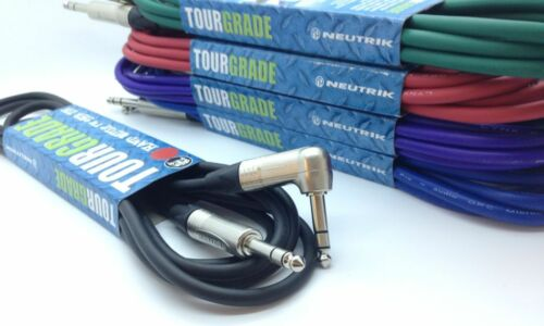 Neutrik Stereo Jack Balanced Cable Straight to Angled Right Angle *ALL LENGTH'S*