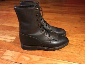 8a05b9e8ca2 Details about EUC Tony Lama Women's 6.5 Lace Up Black Leather Combat Boots