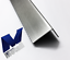 2,5 M acier inoxydable Angle eckschutz résultante 10x50mm L = 2500 mm extérieur taille k320