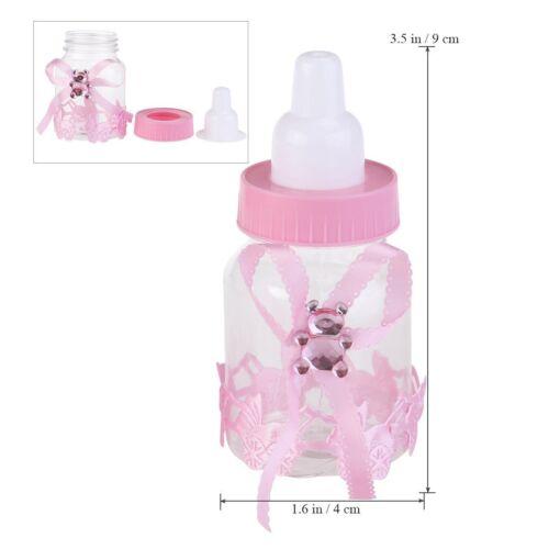 nachfüllbar Baby Flasche 12 stk Süßigkeiten Box Babyparty Taufe Party Geschenk