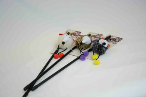 Cat//Kitten Play Pole Mouse Toy Gray//Brown//White