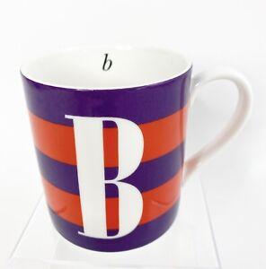 "Kate Spade New York Wickford Red Letter Day "" B "" Monogram Coffee Tea Lenox Mug"