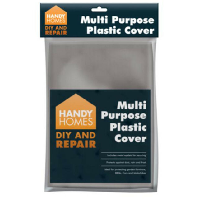 Multi Purpose Plastic Cover Metal Eyelets Cars BBQ Motorbikes Dust Rain cover