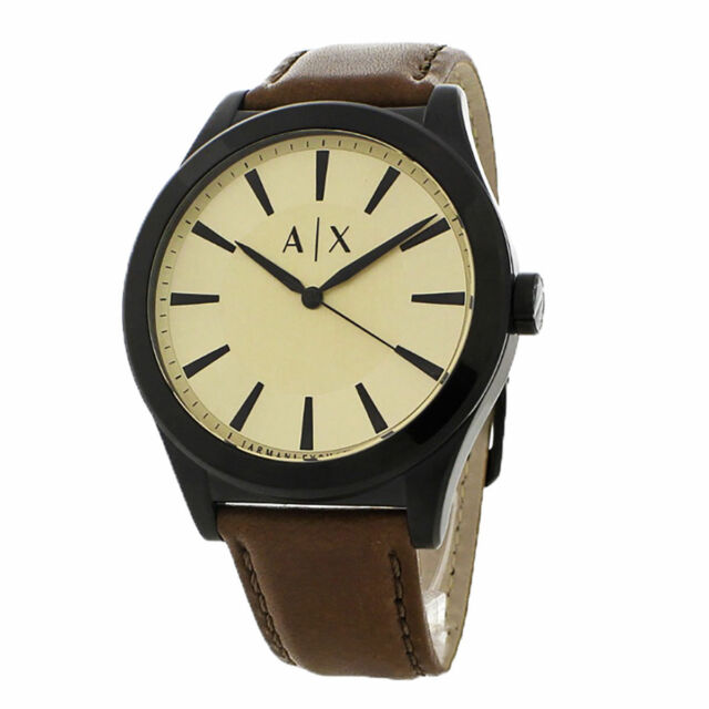 0f8801a1745 Armani Exchange Nico Dark Brown Leather Strap Men s Watch AX2329 NEW Tag   140.00
