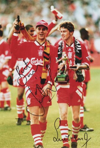 Dual Signed Jamie Redknapp & Steve McManaman Liverpool FC Picture YNWA