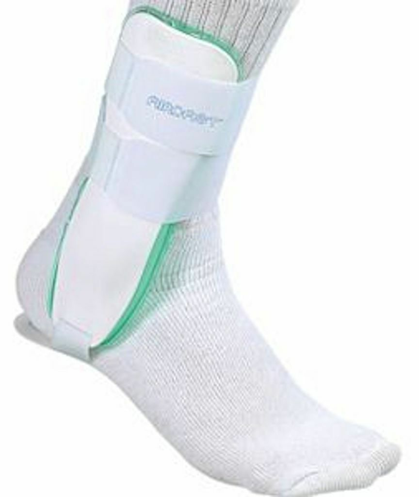 Ankle Brace Aircast Support Air Chambers Mueller Universal Sports Sprains Aircel
