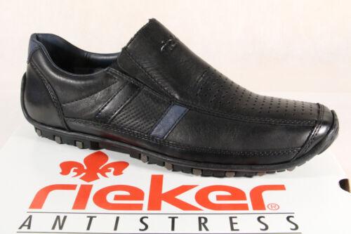 Shoes 08985 Nouveau En Baskets Cuir Rieker Noir Slipper Baskets LUzpGVqMS