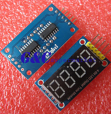 4 Bits LED Digital Tube Display module four serial module 595 drives M57