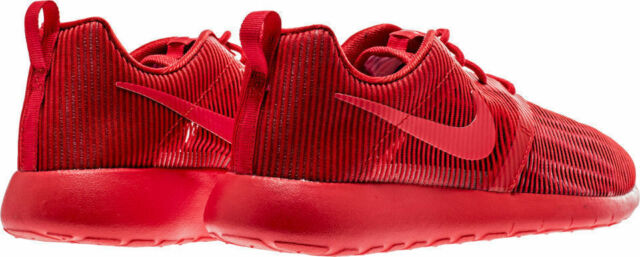 73ffa27f2f08 Boys Nike Roshe Run One Flight Weight Breathe Red GS 705485 SNEAKERS ...