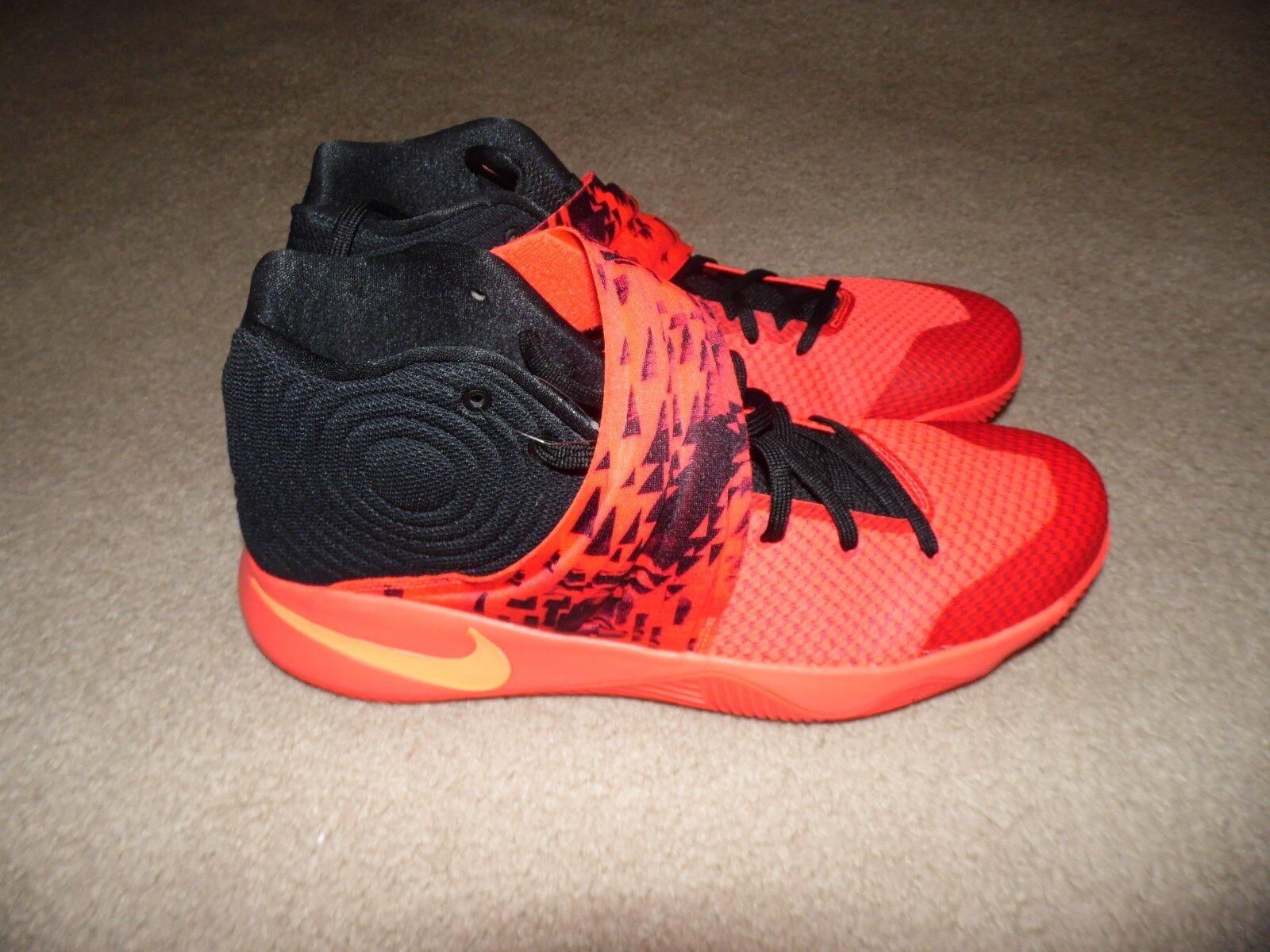 New Men's Sz 18 Nike Kyrie 2 Irving Inferno Crimson orange Black 819583-680 RARE