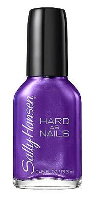 Hard as Nails, Rock Bottom 770,PURPLE NEW Sally Hansen Fingernail Polish 0.45 OZ