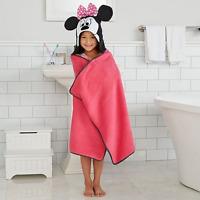 Disney Kids Bath Towels Minnie Mouse Hooded Bath Wraptowel 25 In X 50 Inch