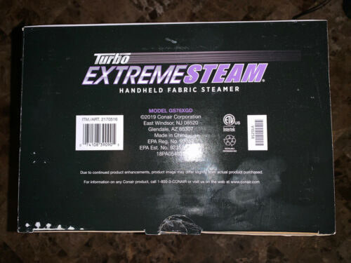 CONAIR Turbo Extreme Steam Handheld Fabric Steamer Model GS76XGD New Quick Ship