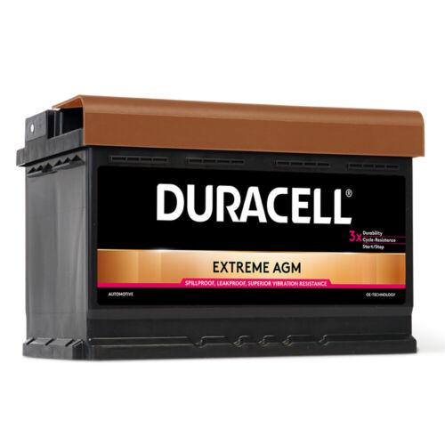 DURACELL AGM Extreme Autobatterie 12V 70Ah Start Stop Starter Batterie DA70AGM