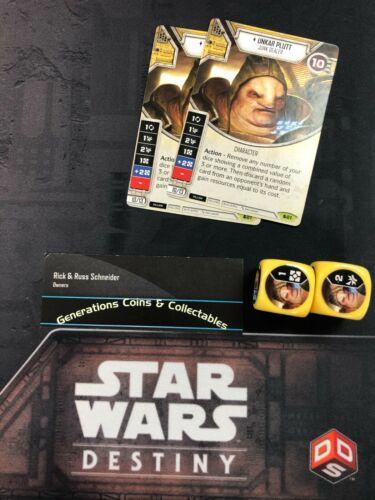 Star Wars Destiny Spirit of Rebellion  SOR Rare x2 #21 Unkar plutt