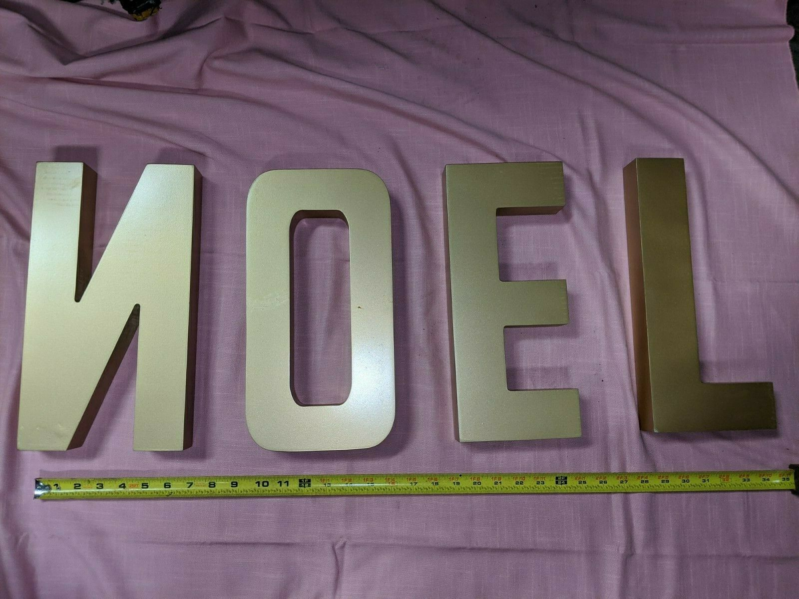 Grandin Road Gold Noel Wooden Letters Sign Christmas Decorations For Sale Online