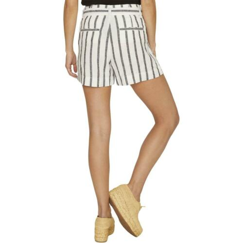 Sanctuary Womens Inland High Rise Striped Paperbag Shorts BHFO 8472