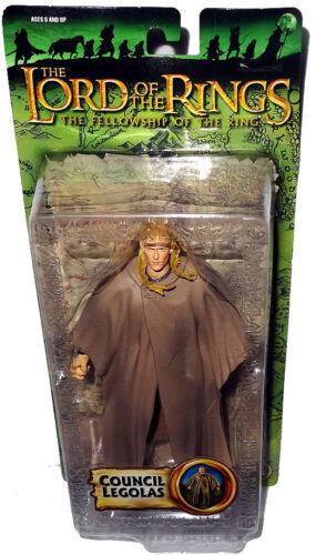 Lord of the Rings Council Legolas Action Figure LOTR Toy Biz MIB Fellowship FOTR